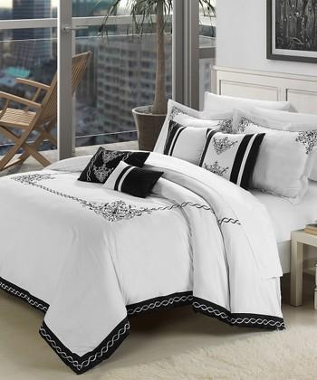 White Athens Comforter Set