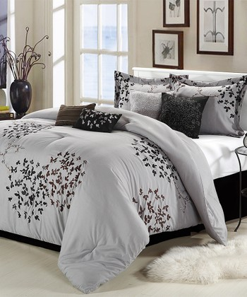Silver Cheila Comforter Set