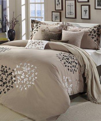 Taupe Cheila Comforter Set