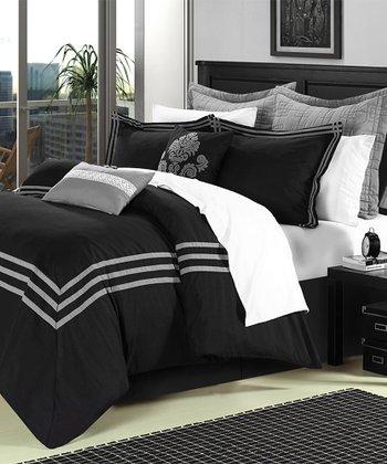 Black Cosmo Comforter Set