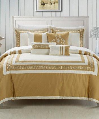 Gold & Beige Venice Comforter Set