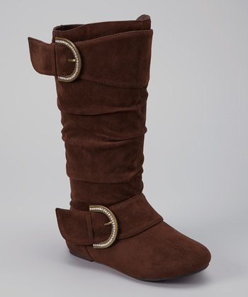 Brown Faux Suede Destiny Boot
