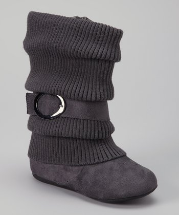 Gray Daysi Fold-Over Boot