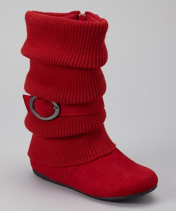 Red Daysi Fold-Over Boot