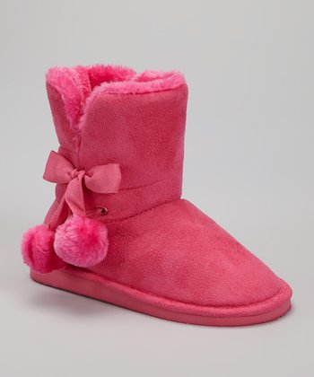 Fuchsia Betty Pom-Pom Boot