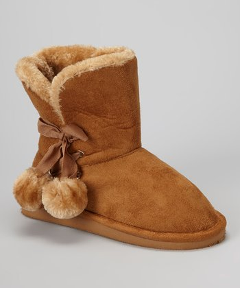 Tan Betty Pom-Pom Boot