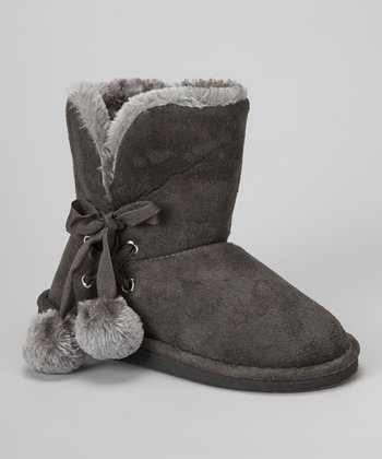Gray Betty Pom-Pom Boot