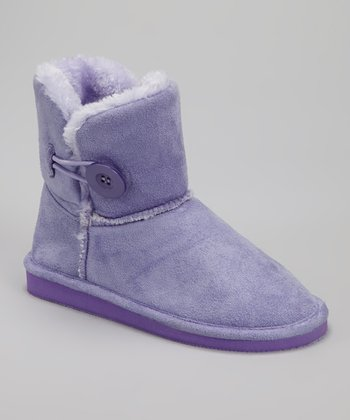 Purple Faux Fur Betty Boot