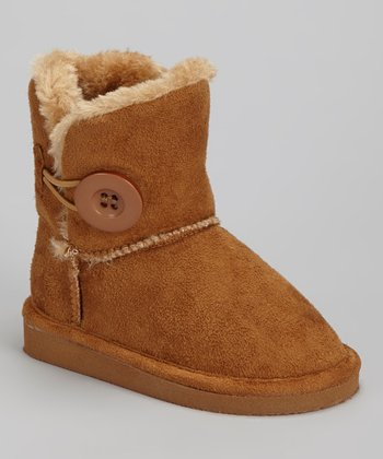 Tan Faux Fur Betty Boot