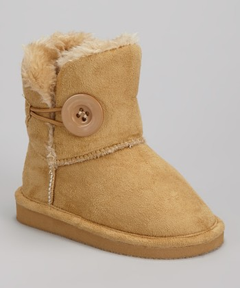 Camel Faux Fur Betty Boot