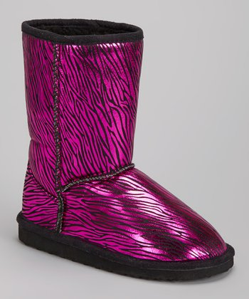 Fuchsia Zebra Betty Boot