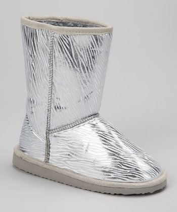 Silver Zebra Betty Boot