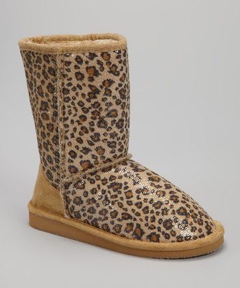 Leopard Sequin Betty Boot
