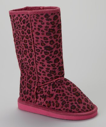 Fuchsia Leopard Betty Boot