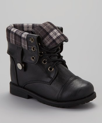 Black Cuffed Damara Boot