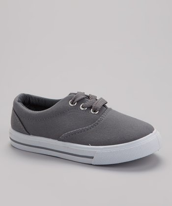 Gray Lace-Up Sneaker
