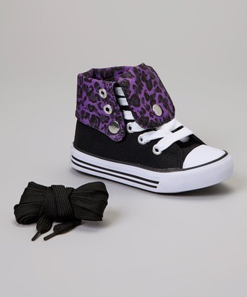 Black & Purple Leopard Hi-Top Sneaker