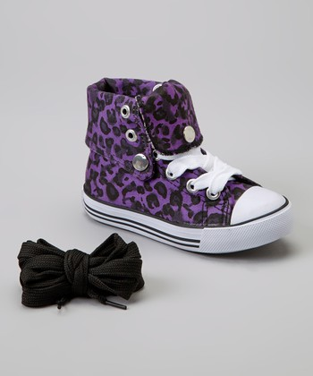Purple Leopard Hi-Top Sneaker