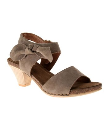 Taupe Leather Vanderbilt Sandal