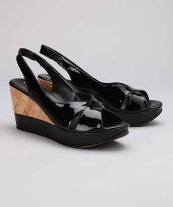 Black Patent Leather Idea Sandal