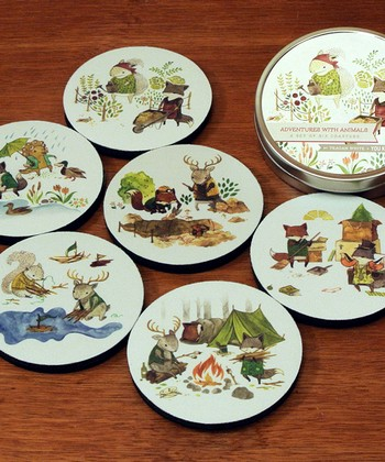 Animal Adventure Coaster Set