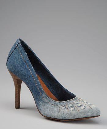 Blue Denim Fera Pump