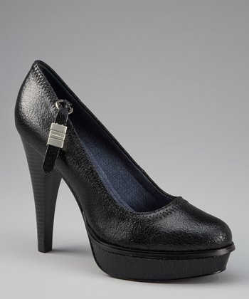 Black Violet Coated Suede Pump