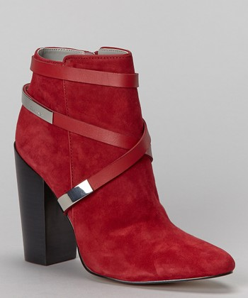 Cranberry Suede Adriana Ankle Boot