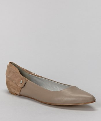 Mink Leather Brielle Flat