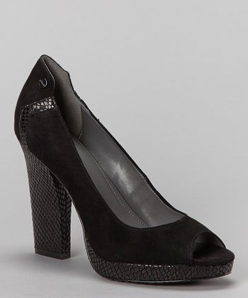 Black Suede Narsha Pump