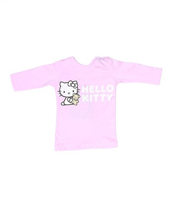 Pink Hello Kitty Organic Long-Sleeve Tee - Infant