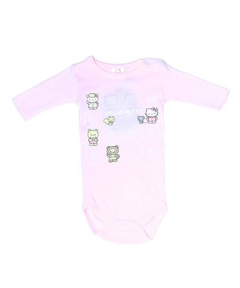 Soft Pink Hello Kitty Organic Long-Sleeve Bodysuit - Infant