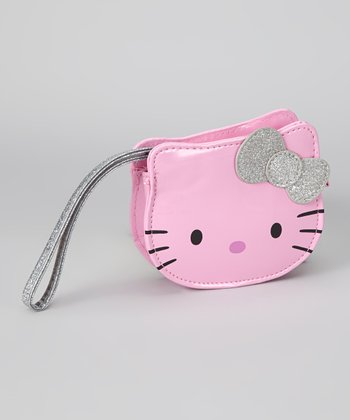 Pink Hello Kitty Die-Cut Wristlet