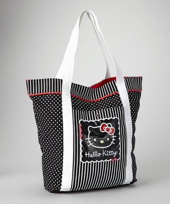 Black Always Classic Hello Kitty Tote