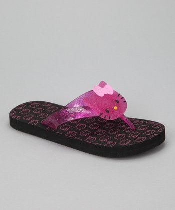 Pink & Black Hello Kitty Flip-Flop