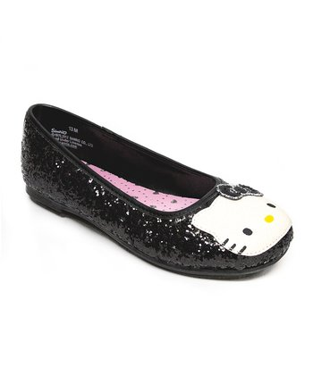 Black Hello Kitty Leila Flat