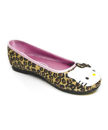 Brown & Beige Leopard Hello Kitty Leila Flat