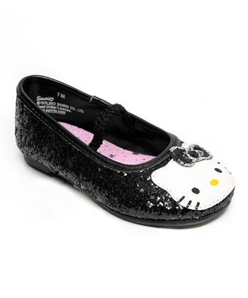 Black Hello Kitty Lil Leila Flat