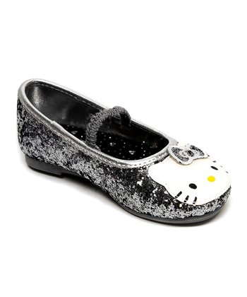 Silver Hello Kitty Lil Leila Flat