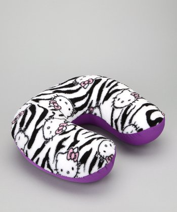 Black & Purple Hello Kitty Neck Pillow