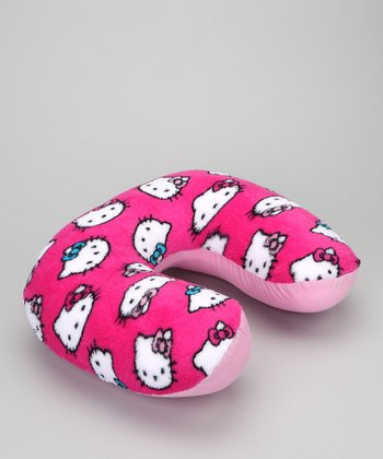 Hot Pink Hello Kitty Neck Pillow