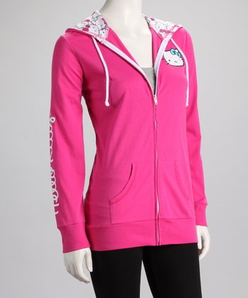 Pink Hello Kitty Zip-Up Hoodie - Women