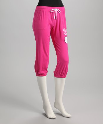 Pink Hello Kitty Capri Sweatpants - Women