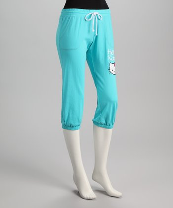 Aqua Hello Kitty Capri Sweatpants - Women