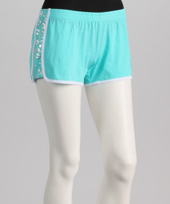 Aqua & White Hello Kitty Boxers - Women