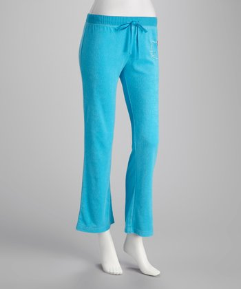 Aqua Hello Kitty Slim Pajama Pants - Women