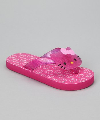 Pink Hello Kitty Face Flip-Flop