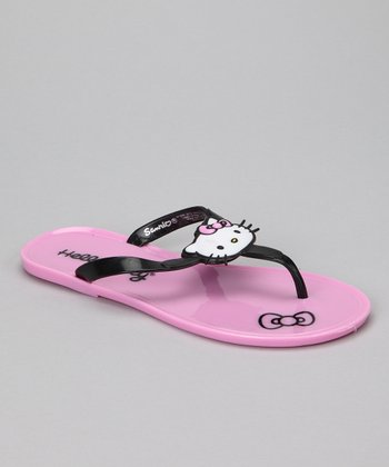 Light Pink Hello Kitty Jelly Flip-Flops