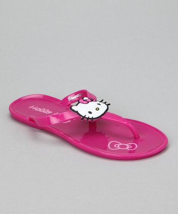 Hot Pink Hello Kitty Jelly Flip-Flop