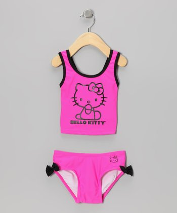 Pink Hello Kitty Tankini - Infant, Toddler & Girls